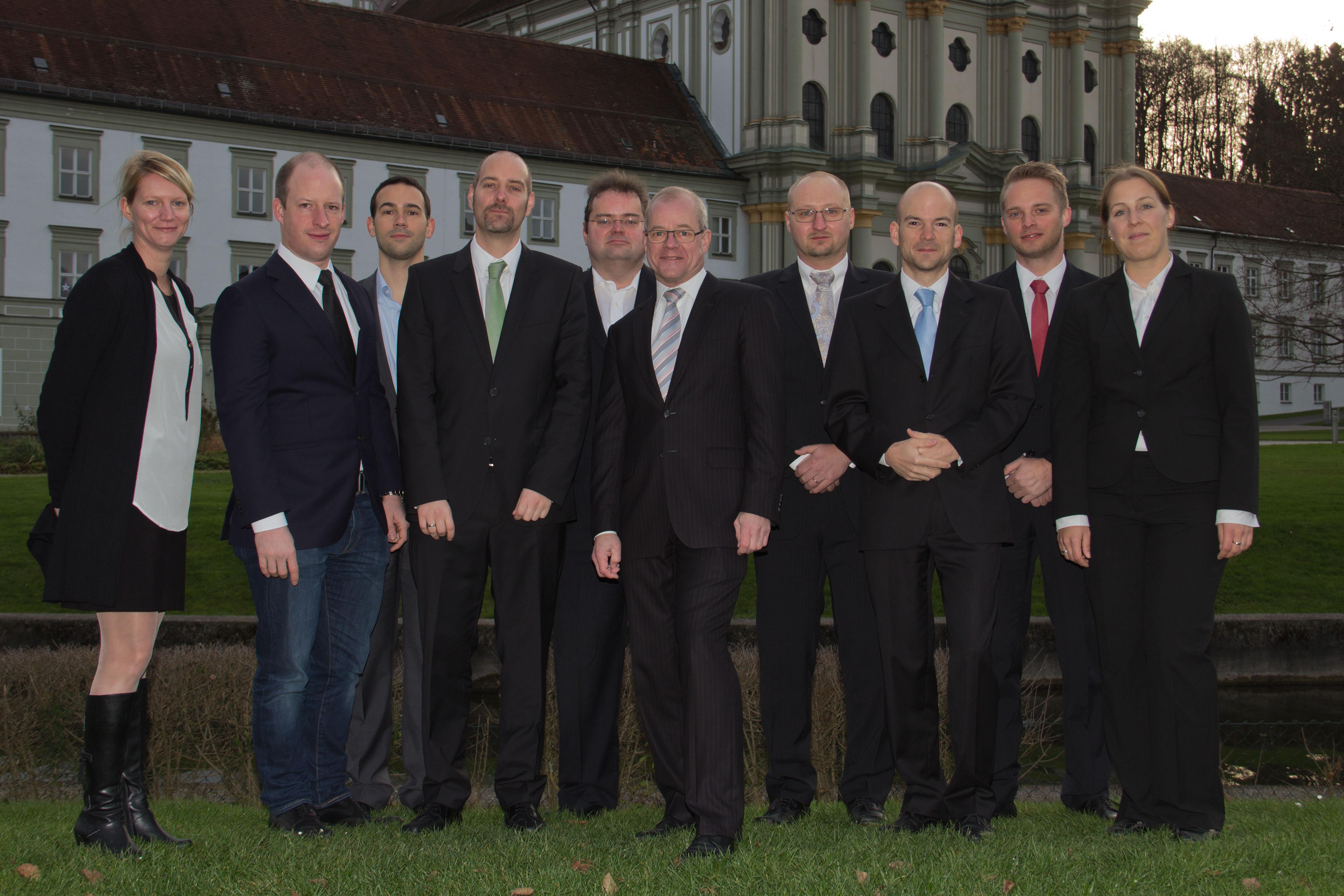 Ein Gruppenfoto von der Firma.