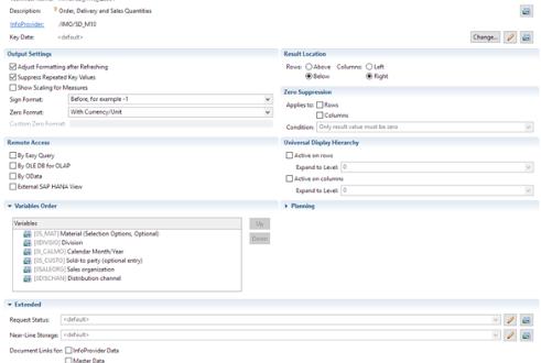 Comparison SAP BEx Query Designer.