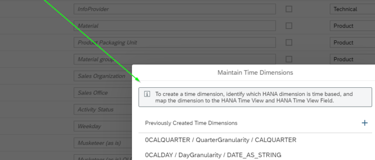 How to create a time dimension.