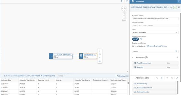 SAP Part 2. SAP HANA calculation views.