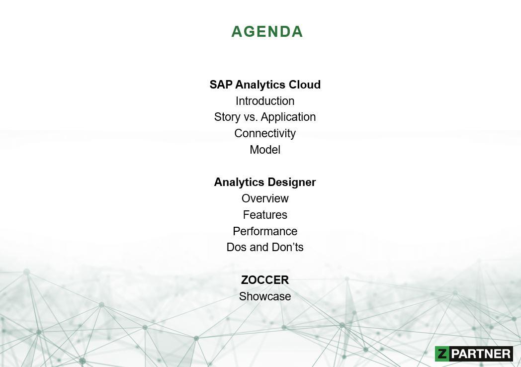 SAC Analytics Cloud. Die Agenda des SAP Online Track Munich and Vienna 2020.